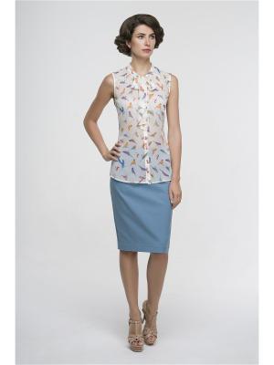 Блузка Modern. Цвет: белый