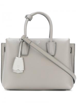 Маленькая сумка-тоут Milla MCM. Цвет: серый