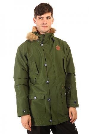 Куртка  Hudson Khaki Picture Organic. Цвет: зеленый