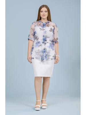 Блузка LALIS. Цвет: синий