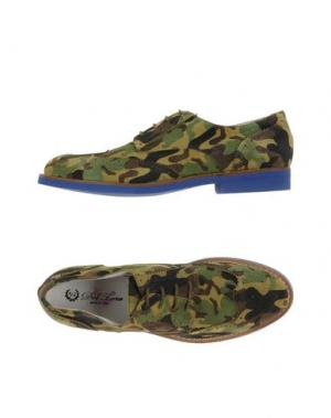 Обувь на шнурках DEL TORO. Цвет: зеленый-милитари