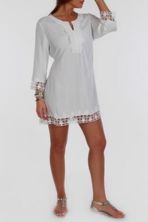 Платье Zer otantik. Цвет: белый