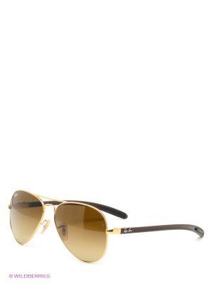 Очки солнцезащитные AVIATOR TM CARBON FIBRE Ray Ban. Цвет: темно-коричневый, золотистый