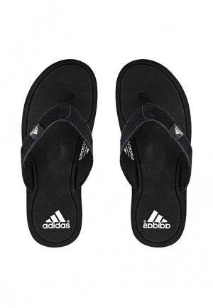 Сланцы adidas Performance. Цвет: черный