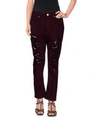 Джинсовые брюки UFFICIO 87. Цвет: баклажанный