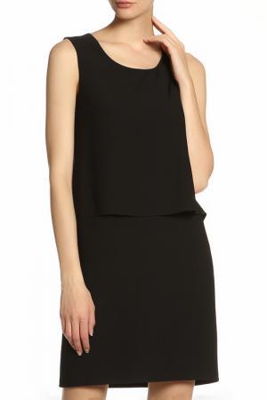 Платье с накидкой Vitacci. Цвет: черный