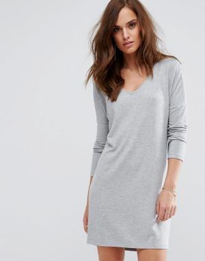 Supertrash Повседневное платье. Цвет: серый
