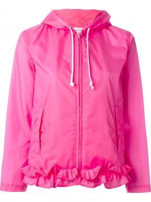 Куртка с капюшоном и рюшами Comme Des Garçons Girl. Цвет: розовый и фиолетовый