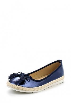 Балетки WS Shoes. Цвет: синий