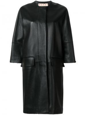 Удлиненное пальто Marni. Цвет: чёрный