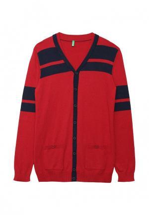 Кардиган United Colors of Benetton. Цвет: красный