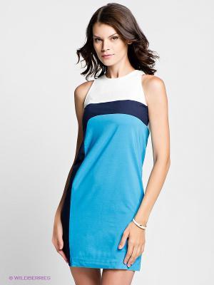 Платье Verezo. Цвет: голубой, белый, темно-синий
