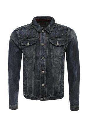 Куртка джинсовая Sixth June. Цвет: синий