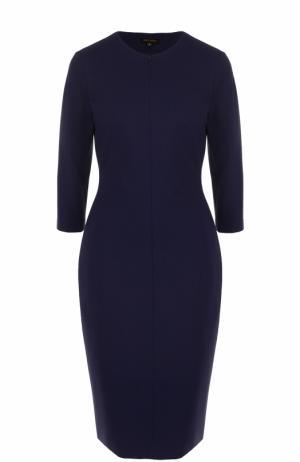 Приталенное платье-миди со шнуровкой на спинке Escada. Цвет: темно-синий