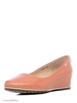 Туфли Renaissance. Цвет: оранжевый