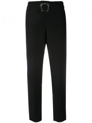 Брюки прямого кроя с поясом Versace Jeans. Цвет: чёрный