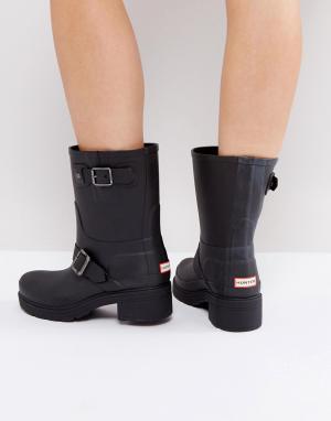 Hunter Байкерские ботинки с пряжками Original. Цвет: черный