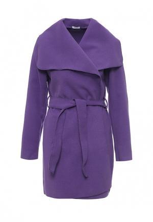 Пальто Aurora Firenze. Цвет: фиолетовый