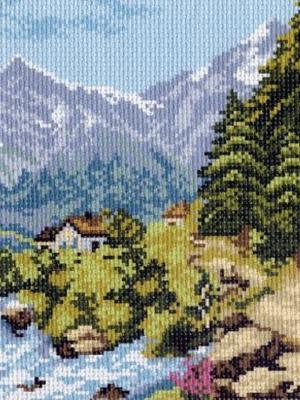 Рисунок на канве Отпуск в горах Матренин Посад. Цвет: зеленый