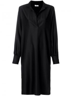 V-neck midi dress Toteme. Цвет: чёрный