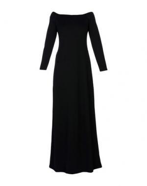 Длинное платье HALSTON HERITAGE. Цвет: черный