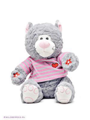 Мягкая игрушка Кот Полоскин Kribly Boo. Цвет: серый, розовый