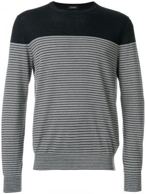 Полосатый свитер Z Zegna. Цвет: синий