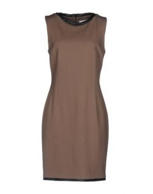 Короткое платье X'S MILANO. Цвет: голубиный серый