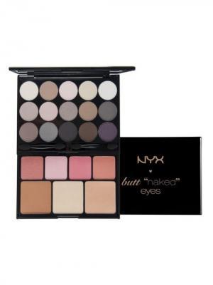 Набор для макияжа BUTT NAKED 122 NYX PROFESSIONAL MAKEUP. Цвет: коричневый, бежевый, белый