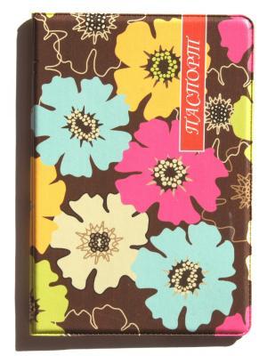 Обложка для паспорта Lola. Цвет: коричневый, желтый, фуксия