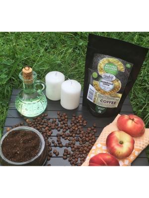 Кофейный скраб с маслом Оливы и Персика, 200 гр Grosheff. Цвет: коричневый