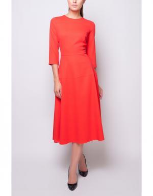 Шерстяное платье Poustovit. Цвет: красный