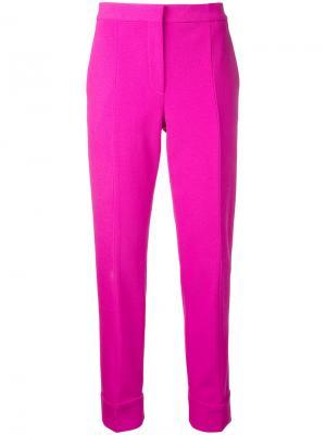 Cropped trousers Narciso Rodriguez. Цвет: розовый и фиолетовый