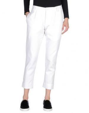 Повседневные брюки DANIELE FIESOLI. Цвет: белый
