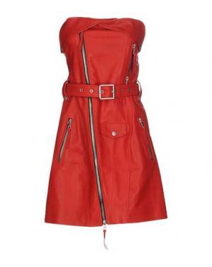 Короткое платье UNRAVEL. Цвет: красный