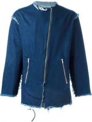 Джинсовая куртка с необработанными краями Mow. Цвет: синий