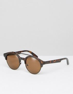 AJ Morgan Солнцезащитные очки в стиле ретро. Цвет: коричневый