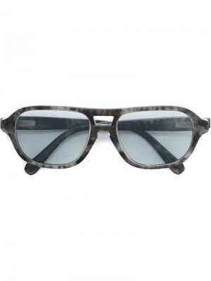Солнцезащитные очки Brioni. Цвет: серый
