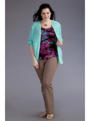 Блузка AVERI. Цвет: лиловый, светло-зеленый, фиолетовый