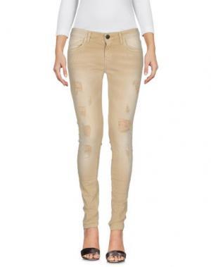 Джинсовые брюки MNML COUTURE. Цвет: бежевый