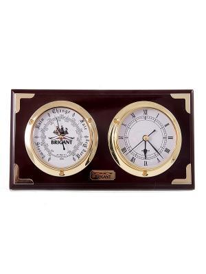 Часы-барометр BRIGANT. Цвет: темно-красный, золотистый
