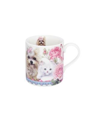 Кружка - подарок Верные друзья Elan Gallery. Цвет: розовый, белый, голубой