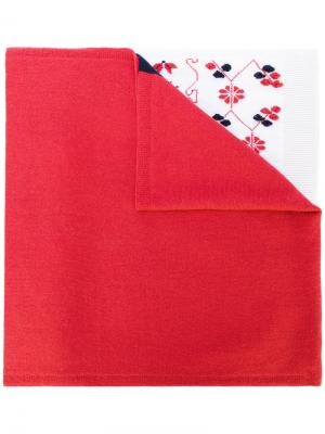 Intarsia cashmere scarf Barrie. Цвет: многоцветный