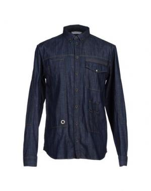 Джинсовая рубашка PIERRE BALMAIN. Цвет: синий