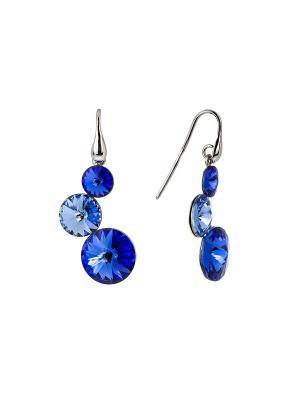 Серьги NAVELL. Цвет: синий, голубой, серебристый