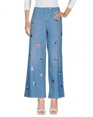 Джинсовые брюки CHRISTOPHER KANE. Цвет: синий