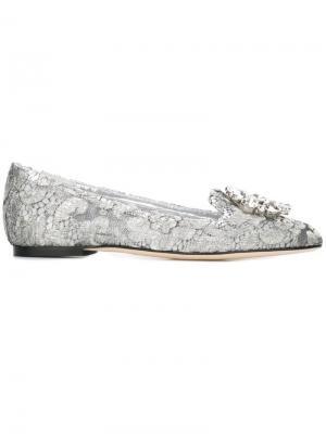 Слиперы Vally Dolce & Gabbana. Цвет: серый