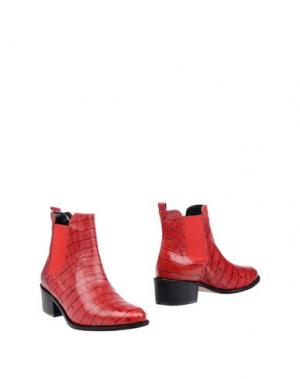 Полусапоги и высокие ботинки EYE. Цвет: красный