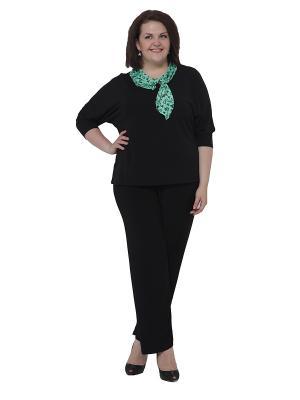 Блузка Pretty Woman. Цвет: черный, зеленый