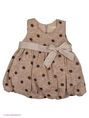 Платье CEREMONY. Цвет: бежевый, коричневый